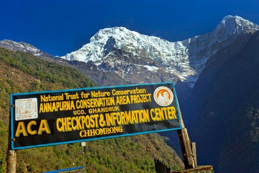 Checkpost Information Center, Annapurna Conservation Area, Himalaya, Nepal