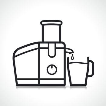 Vector juice extractor machine icon