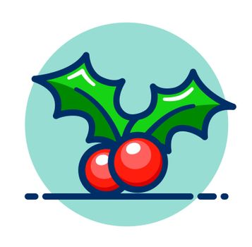 Vector holly berry icon clipart