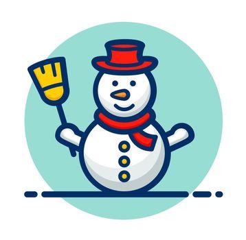 Vector snowman clipart icon design