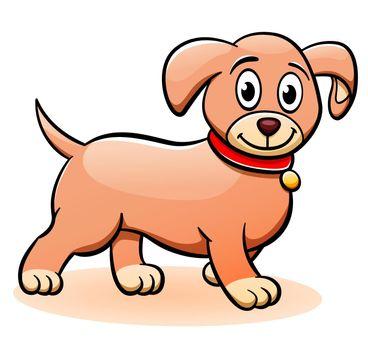 Vector puppy cartoon clipart illustration