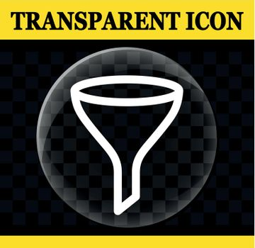 funnel vector circle transparent icon