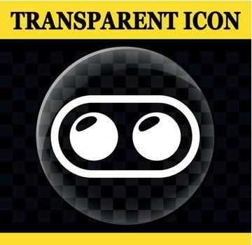dual camera vector transparent icon