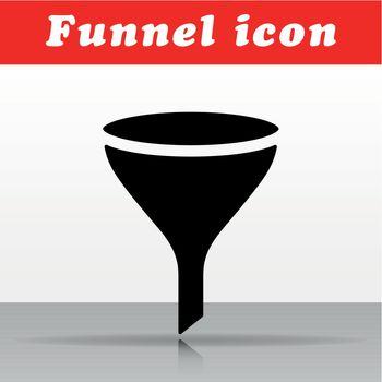 black funnel vector icon design