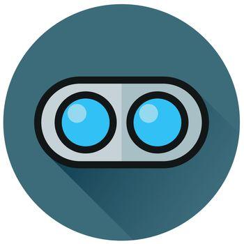 dual camera circle flat icon
