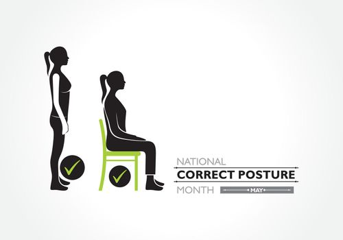National Correct Posture Month observed each year in May.