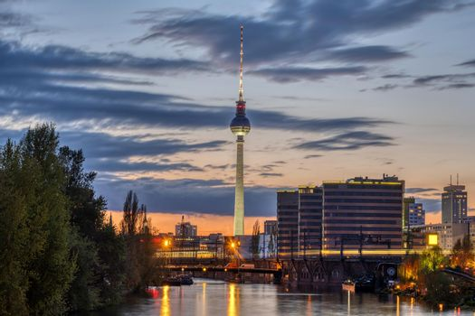 The famous Television Tower and the river Spree