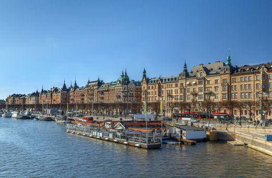 View of Strandvagen, Stockholm, Sweden
