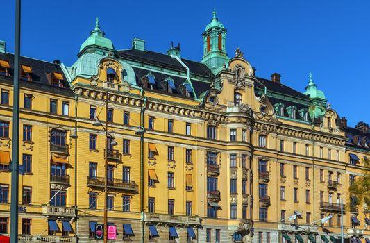 Building on Strandvagen, Stockholm, Sweden