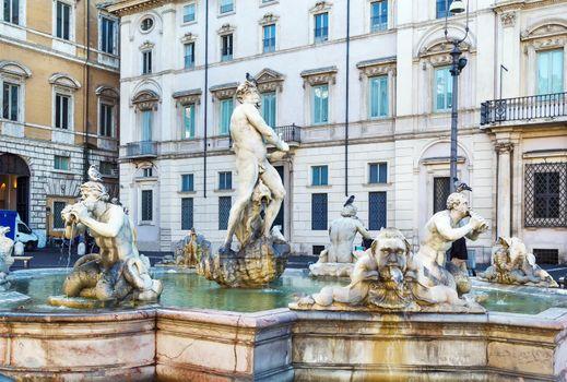 Moor Fountain in Rome, Italy