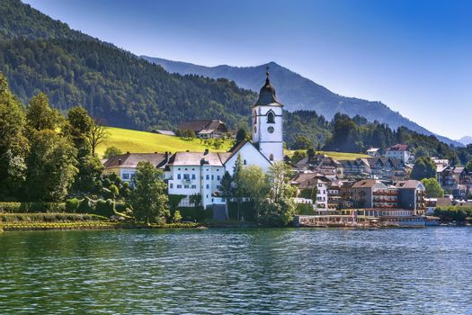 View of St. Wolfgang, Austria