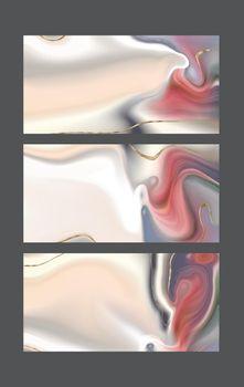 Pastel fluid marble pattern