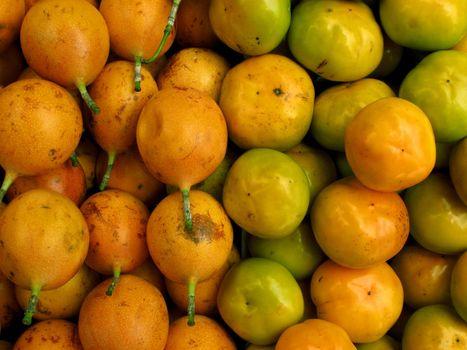 Passion fruit and mandarin
