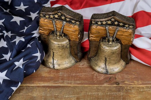 American flag Memorial day remember those who served with Remember bell