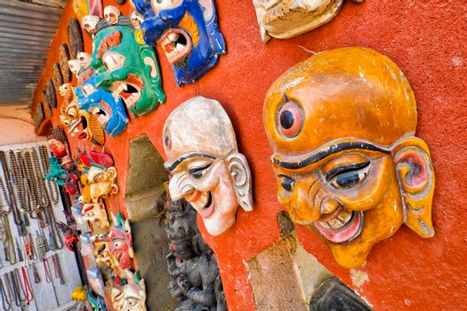 Colorful Masks, Swayambhunath Temple, Kathmandu, Nepal