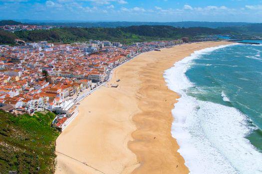View of Nazaré Beach, Nazaré, Portugal
