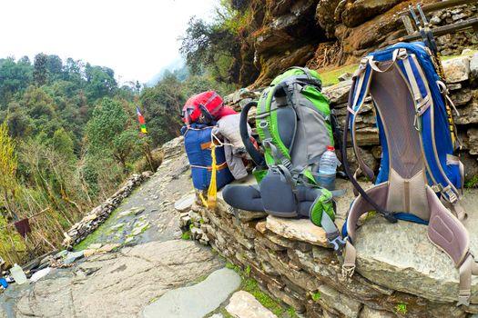 Hikkers Backpacks, Annapurna Conservation Area, Himalaya, Nepal