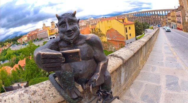 Devil Sculpture, Segovia, Spain