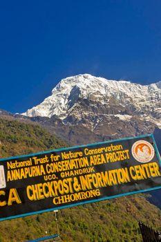 Checkpost Information Center, Chhomrong, Annapurna Conservation Area, Himalaya, Nepal