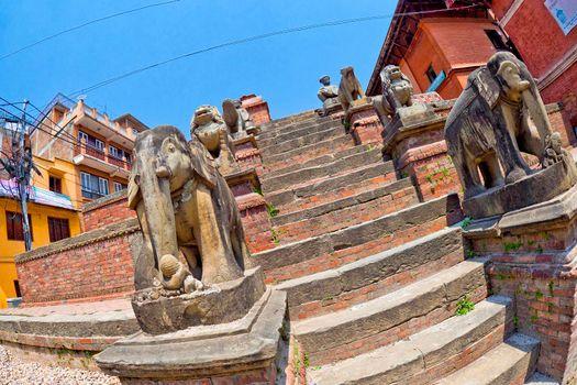 Hindu Street Temple, Kathmandu, Nepal