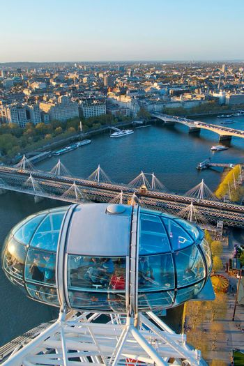 Aerial View from London Eye, London, Great Britain