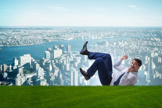 Happy businessman is excited from new business opportunity