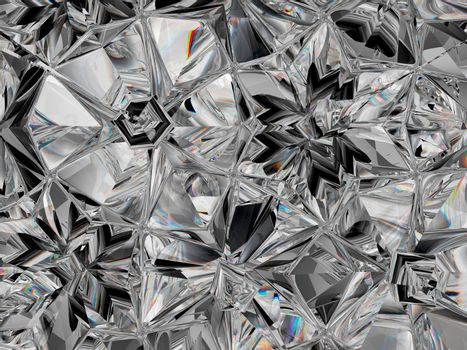 Precious Gemstone closeup texture and kaleidoscope