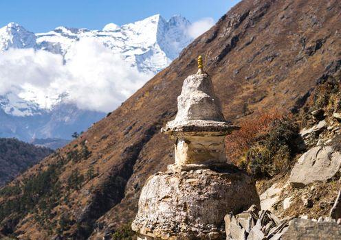 Buddhist stupa in Himalayas