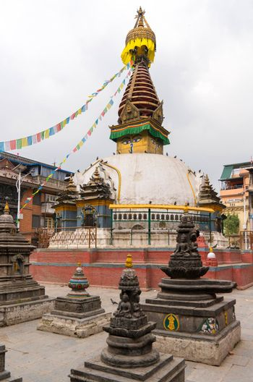 Buddhist stupa in Thamel district of Kathmandu