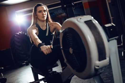 Rowing Workout At The Gym