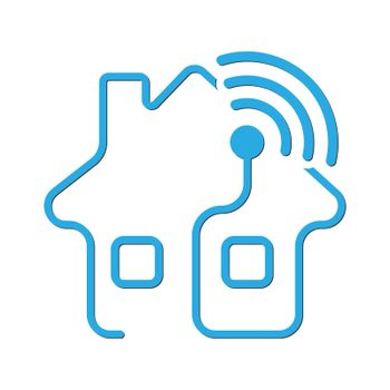 Smart home, security system, Wi-Fi, service icon. Vector illustration, flat style