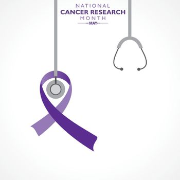 Vector Illustration of National Cancer Research Month observed in May.