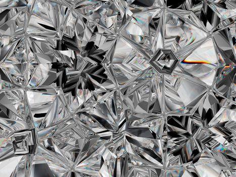 precious diamond structure extreme closeup kaleidoscope