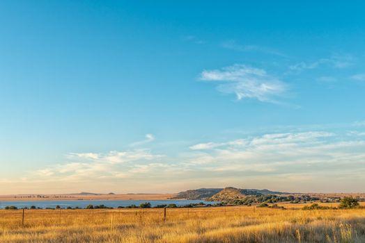 Early morning view of Tierpoort Dam near Bloemfontein