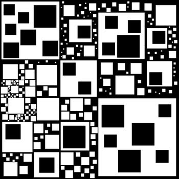 Strange black and white hypnotic mesmerizing and alluring pattern. Vector Illustration