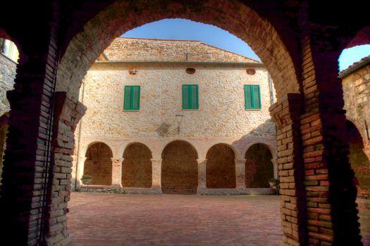 Inside view Chiostro Suvereto