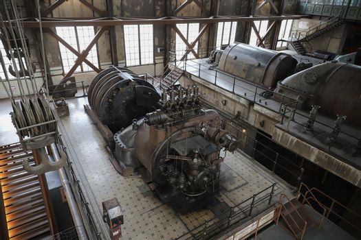 Engine of an old Power Plant
