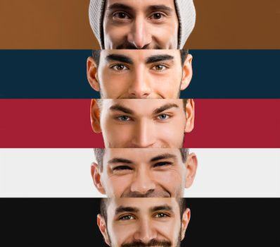 Multiple portraits of young men's