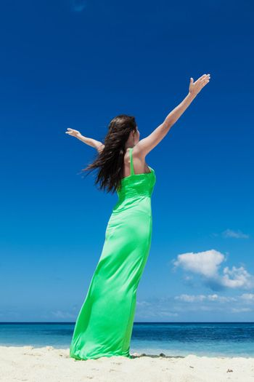 Happy woman enjoy vacation
