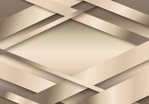 Abstract 3D golden stripes paper cut decoration textured with overlapping layers background