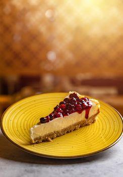 Simple mascarpone cheesecake
