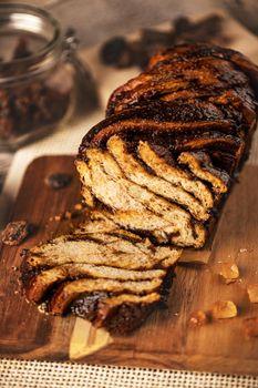 Swirl brioche or chocolate braided bread
