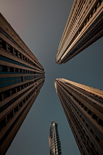 Dubai Towers Perspective View