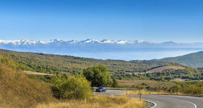Panoramic view from Gombori Pass, Georgia