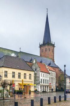 Market square in Kalkar, Germany