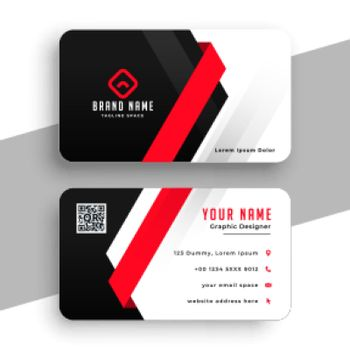 corporate business card in red theme