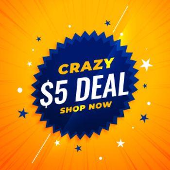 crazy five dollar deal banner