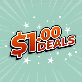 dollar one deals sticker background