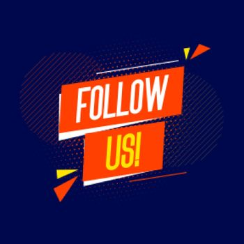 flat follow us background for social media post