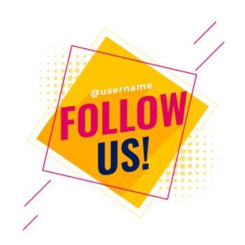 flat follow us social media banner
